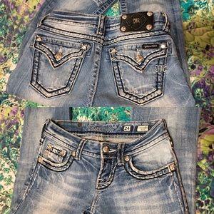 Miss Me jeans. Sz 24, bootcut. Like new